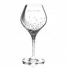 WHITE WINE GLASS WITH EXCLUSIVE SWAROVSKI DECORATION WITH OR WITHOUT PERSONALISATION