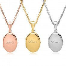 UNIQUE JEWELRY PERSONALIZED OVAL CHARM