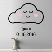 "PERSONALIZED WALL-TATTOO ""CLOUD WITH FACE"""