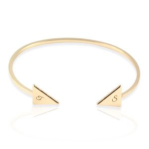 "PERSONALIZED ANOA BANGLE ""TRIANGLE"""