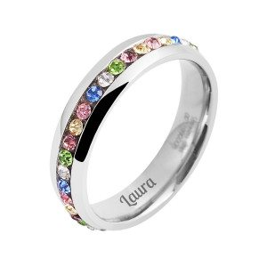 PERSONALIZED COLOURFUL WOMAN`S RING