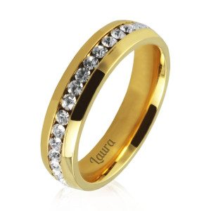 PERSONALIZED GOLD-PLATED WOMAN`S RING