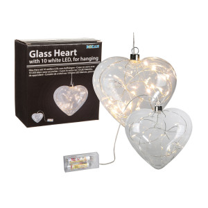 Glaslampe med LED-lys
