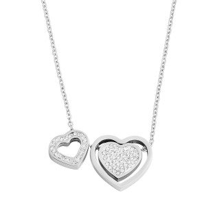 PERSONALIZED DOUBLE HEART NECKLACE