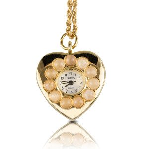 PERSONALIZED NECKLACE HEART COLLIER WATCH