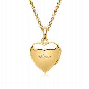 UNIQUE JEWELRY SMALL GOLDEN HEART SHAPED CHARM