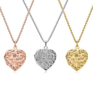 UNIQUE JEWELRY PERSONALIZED HEART SHAPED CHARM WITH ORNAMENTS