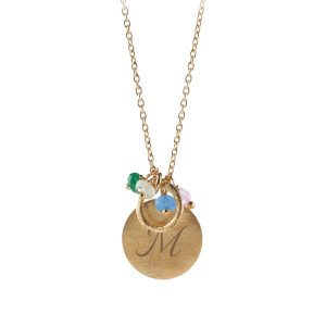PERNILLE CORYDON: PERSONALIZED GOLDEN MULTI COLOR NECKLACE