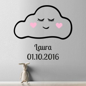 """PERSONALIZED WALL-TATTOO """"CLOUD WITH FACE"""""""