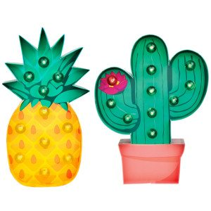 Tropical Marquee Light - Cactus Side
