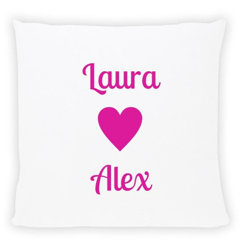 personalized pillow with names pink