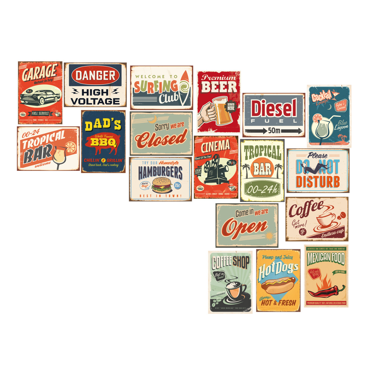 Image of   Retro wallstickers